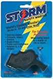 Storm Safety Whistle on Blister Card, Black
