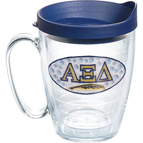 Tervis Alpha Xi Delta Sorority Mug with Travel Lid, 16 oz, Clear
