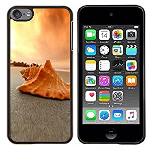 LECELL--Funda protectora / Cubierta / Piel For Apple iPod Touch 6 6th Touch6 -- Conchas de mar Conchas Beach --