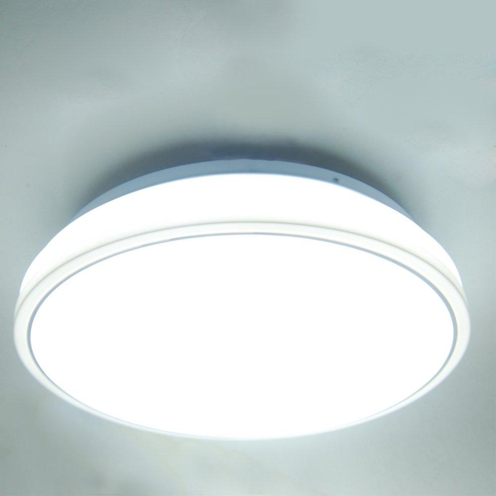 JS LED Flush Mount Ceiling Light, 13.6-Inch, Modern Acrylic, 18W ...