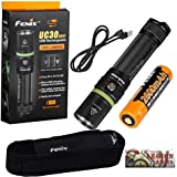 Fenix UC30 2017 Edition 1000 Lumen LED Rechargeable Flashlight (UC35 PD35 Ultra-Compact Version) with 18650 Rechargeable Battery, holster, USB Charging cable and LegionArms sticker