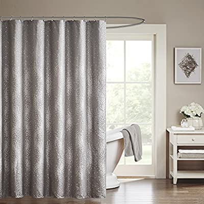 Madison Park MP70-1919 Quinn Shower Curtain 72x72 Grey,72x72 - Set includes: 1 shower curtain Material: 100Percent polyester Measurement: 72-by-72-inch shower curtain - shower-curtains, bathroom-linens, bathroom - 51ztzPwDqtL. SS400  -