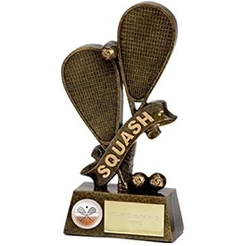 15,24 cm pinaculo Squash premio trofeo plus hasta 30 letras grabado gratis A1261A: Amazon.es: Jardín