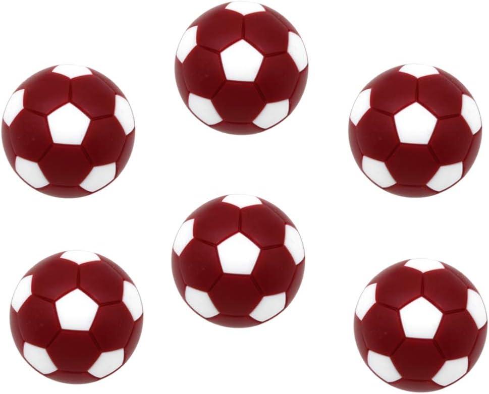 Toygogo 6 Unids Pelotas para Futbolín,32mm, Rojo Oscuro: Amazon.es ...