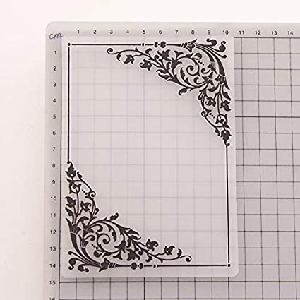 KWELLAM Large Size Words Letters Plastic Embossing Folders for Card Making Scrapbooking and Other Paper Crafts,19.8x19.8cm