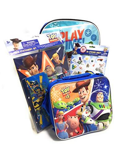 (Toy Story 4 Backpack & Back to School Supply Set - Bundle Includes Backpack, Lunchbox, Pencils, Pencil Sharpener, Eraser, Folder and More)