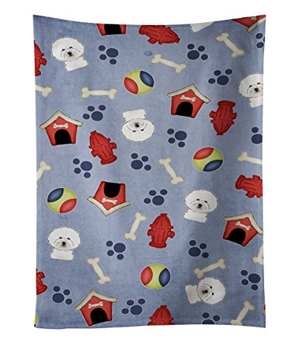 Caroline's Treasures BB3996KTWL Dog House Collection Bichon Frise Kitchen Towel, 25