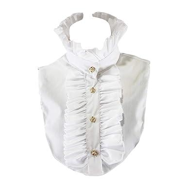 xian Womens Victorian Vintage Palace Half Shirt Blusa Stand-Up ...
