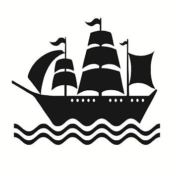 Habitación De Los Niños Decoración Niño Negro Barco Pirata ...