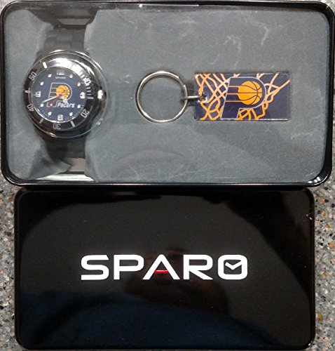 Indiana Pacers Spirit Style Watch and Keychain Gift Set NBA Basketball by Rico