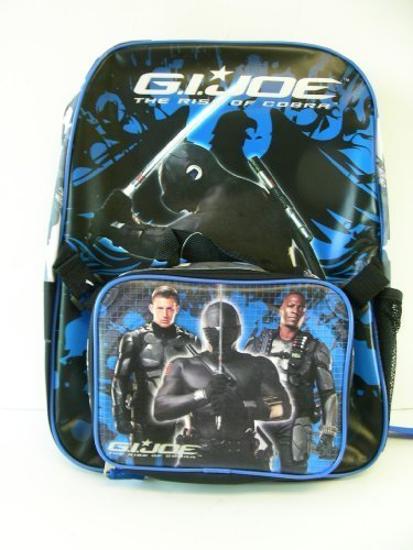 G.I. Joe Backpack with Detachable Lunch Box Kit - Navy Blue/ Black - 16
