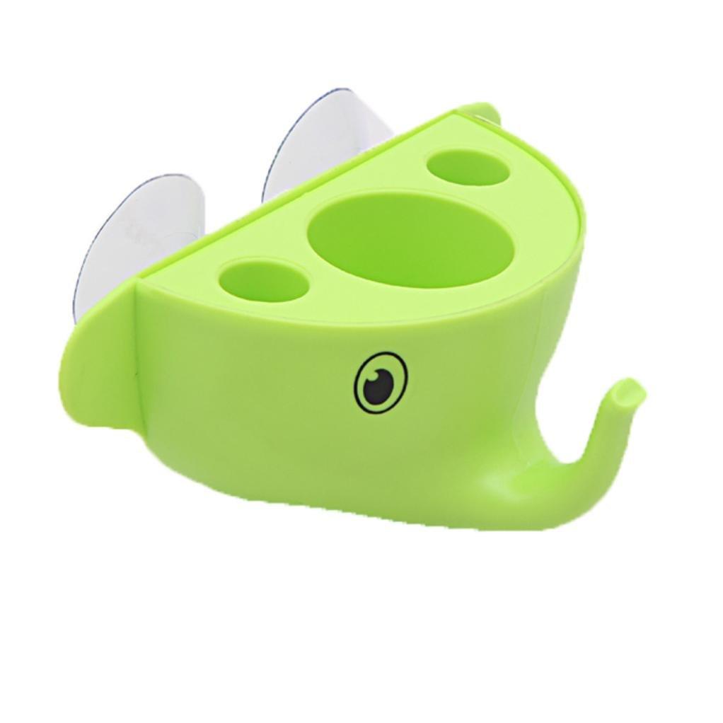 oksale® Cute Cartoon Elephant toalla de baño organizador con ventosa gancho, cepillo de dientes y pasta de dientes soporte Set: Amazon.es: Hogar