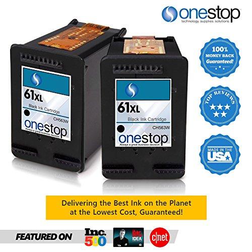 MX Brand HP 61XL Black Inkjet Premium High Yield Ink Cartridge for HP 61 & HP 61XL - CH563WN, CH564WN (2 PACKS) - Hp Deskjet 1000 Printer Cartridge