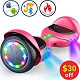 TOMOLOO Hoverboard with Bluetooth Speaker (Q2C-Pink)