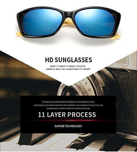 C Marco para Madera Aviador De del Gafas Hombres Mujer De Los Sol La De 400 Personalidad E para Ultravioleta del Protección OZpwCCRq