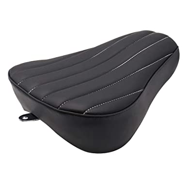 GOOFIT Motorcycle Black Front Rider Driver Solo Seat Cover Cushion Pad Compatible with Harley Sportster 883 Forty Eight Seventy Two 48 72 2004-2020 (Vertical): Automotive