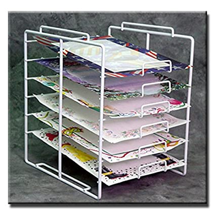 New Retail 6 Tier 6 Slot Scrapbook Paper Rack Display 10u0026quot;W X 12u0026quot