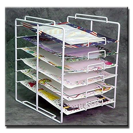 New Retail 6 Tier 6 Slot Scrapbook Paper Rack Display 10u0026quot;W X 12u0026quot