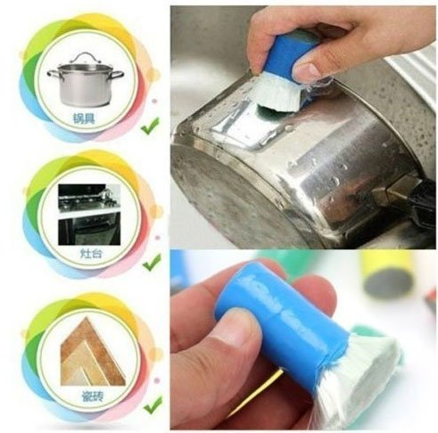 Alfto Magic Decontamination Stick Stainless Steel/Metal Rust Remover Cleaning Brush