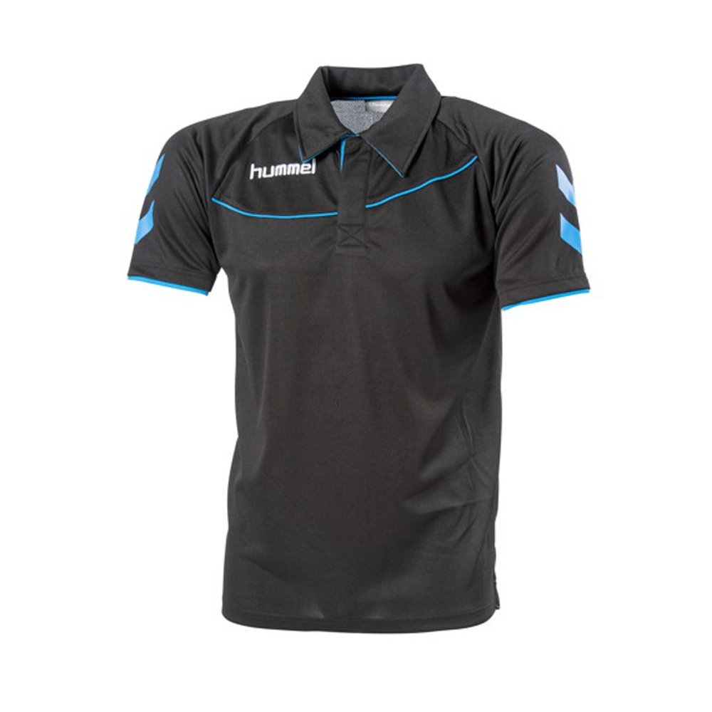Polo Hummel Corporate-noir/bleu-L: Amazon.es: Deportes y aire libre