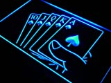 Royal Flush Poker Casino Rule LED Sign Neon Light Sign Display j416-b(c)