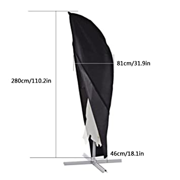 Relativ Xiliy Schutzhülle Sonnenschirm Ampelschirm Abdeckhaube 210D OD68