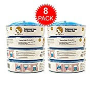 Diaper Genie Refill Bags - 2240 Count, Up to 12 Month Supply of Diaper Pail Liners - By Besser Products inc (8 Pack)