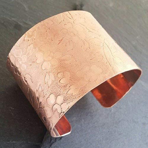 Cuff Bracelets For Women Pure Copper Bangle 7th Wedding