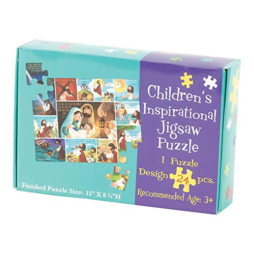 Life of Jesus Inspirational 11 x 8 Cardboard Inspirational Childrens Puzzle 24 Pieces (Puzzles Religious Childrens)