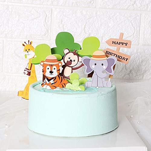 Cool Amazon Com Purearte Diy Happy Birthday Zoo Animals Birthday Cake Funny Birthday Cards Online Amentibdeldamsfinfo