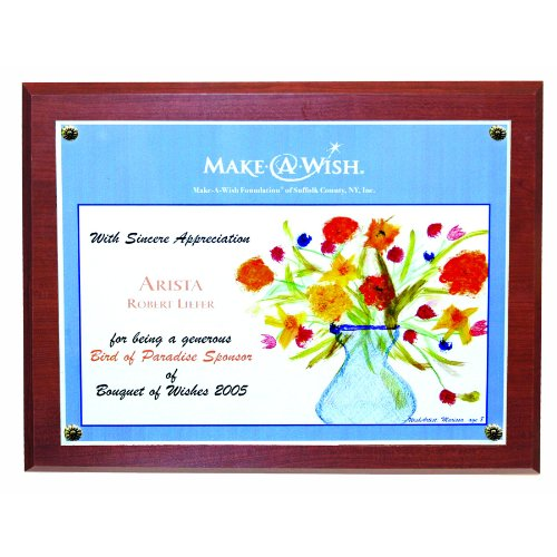 NuDell 18863M 8.5 x 11  Inches Bamboo Executive Award Plaque, Mahogany Wood Grain