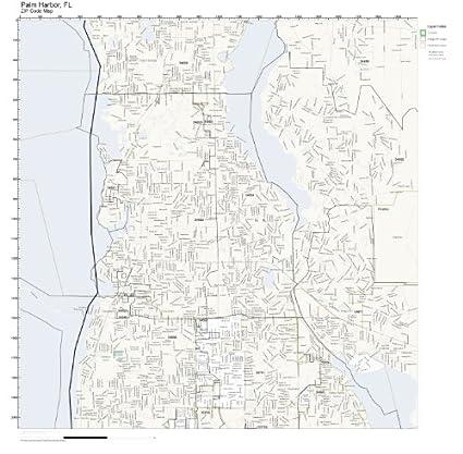 Amazon.com: ZIP Code Wall Map of Palm Harbor, FL ZIP Code Map