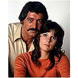 Rock Hudson 8 inch x 10 inch Photo Giant Pillow Talk McMillan & Wife in Tan Shirt Behind Susan Saint James in Orange Sweater kn