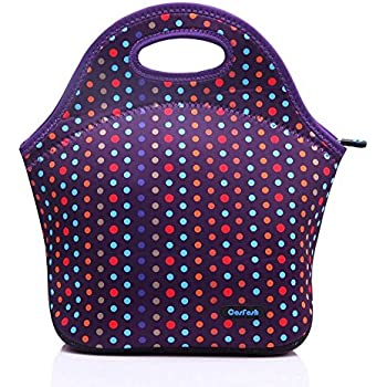 Cosfash Neoprene Lunch Tote Insulated Reusable Picnic Bags Boxes For Men Women Adults Kids Toddler
