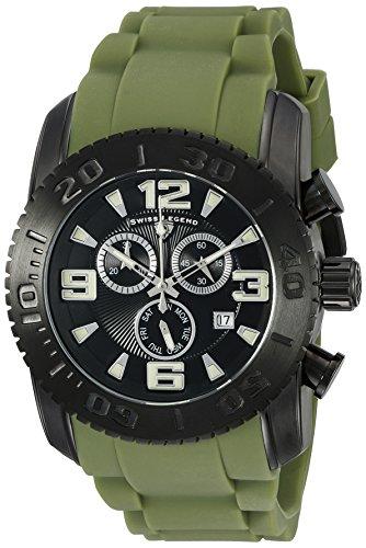 Swiss Legend Men's 10067-BB-01-MGRS Commander Analog Display Swiss Quartz Green Watch
