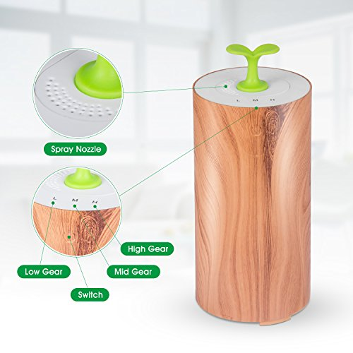 Essential Oil Diffuser for car, Bbymie Essential Oil Diffuser waterless Mini Oil Diffuser Wood Grain Aromatherapy just for car or Small Room by Bbymie (Image #5)