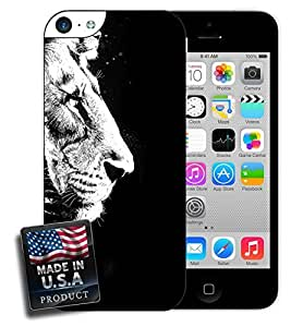 Black and White Lion iPhone 5c Hard Case by lolosakes
