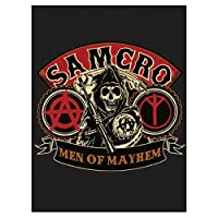 "SOA Sons of Anarchy Men of Mayhem Velour Perfect Soft Thick Microfiber Mink to Black Cast Aside Gritty Exterior Warm Light weight 60"" X 80"" Official Licensed Plush Blanket"