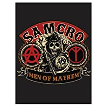 """SOA Sons of Anarchy Blanket 60"""" X 80"""" Official Licensed Blanket High Quality"""