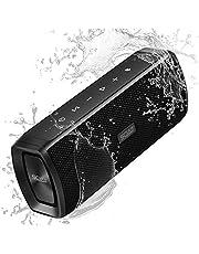 SCIJOY Kabelloser Bluetooth Lautsprecher, 16W Tragbarer Wireless Lautsprecher Wasserdicht IPX6, Bass Stereo mit 12 Std.-Spielzeit, Freisprechfunktion für Handy, WTS für Outdoor/Dusche/Party