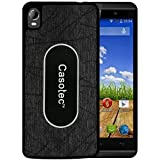 Casotec Metal Back TPU Back Case Cover for Micromax Canvas Fire A104 - Black