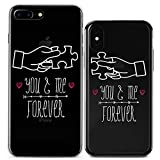 Lex Altern Couple iPhone Case Xs Max X Xr 10 8 Plus 7 6s 6 SE 5s 5 TPU You and Me Forever Cute Puzzle Clear Transparent Gift Soft Girlfriend Best Friend BFF Phone Cover Anniversary Print Protective