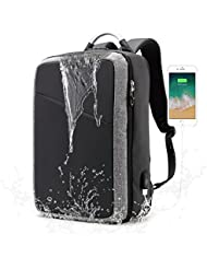 BISON DENIM Travel Backpack Shockproof 3 in 1 Laptop Backpack Lightweight Hiking Daypack Water Resistant Up To...