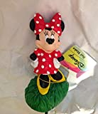 8 Inch Disney Minnie Mouse with Flower Basket Pot Stake
