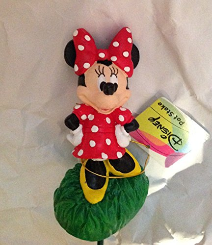 8 Inch Disney Minnie Mouse with Flower Basket Pot Stake by Design Internation Group