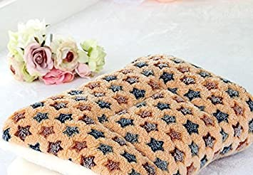 Xinjiener Manta de Cama para Perro/Gato Lavable de Lujo Ultra Suave y Grueso Forro