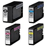 Value (4) Pack Canon PGI-1200XL High Yield (BK:1200, C/M/Y:900 Pages) PGI1200XL PGI-1200-XL PGI1200 1200 XL 1200XL Black Cyan Magenta Yellow 9183B001 9196B001 9197B001 9198B001 New Compatible Pigment Ink Tanks Cartridges Combo Set For MAXIFY MB2020 MB2120 MB2320 MB2720 - SaveOnMany ®