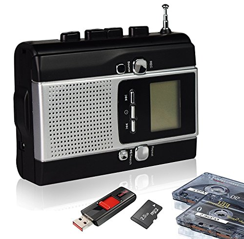 Rybozen BM001-US Portable Radio Cassette Recorder, Cassette Tape to Mp3 Converter and Radio to Mp3 Recorder with Voice Recording Feature, Used As a walkman