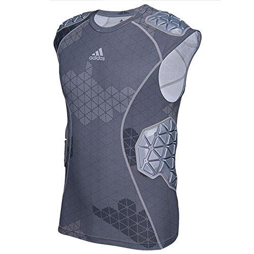 Adidas Sleeveless Jersey - adidas Techfit Ironskin Mens 5 Pad Sleeveless Football Shirt L Onix-Light Onix