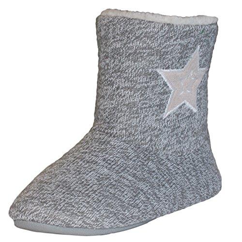 brandsseller Women's Slippers Grey f2e4ulcW3U